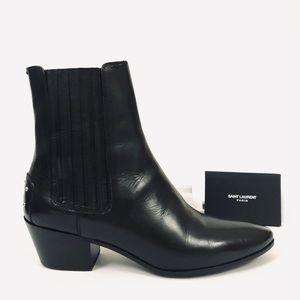 Saint Laurent West 45 Chelsea Leather Ankle Boots